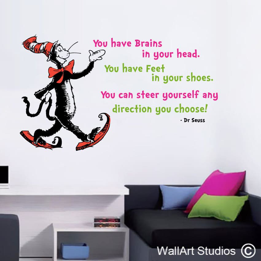 Superieur Dr Seuss You Have Brains In Your Head | Wall Decals | Wall Art Studios SA