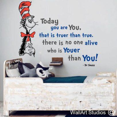 Dr Seuss You are Youer than You, dr seuss, vinyl stickers, youer than you, custom wall art, decals, home decor, boys rooms, wallart studios