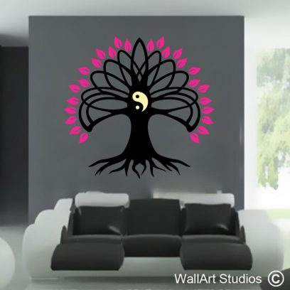 yin yang, tree of life, celtic, wall art, stickers, vinyl, decals, custom designs, removable wall tattoos