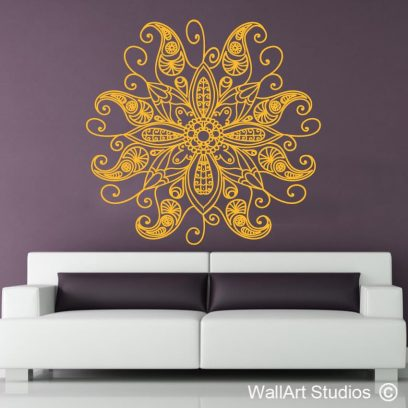 Hand Drawn Mandala, wall stickers, boho mandala, custom wall art, pretoria