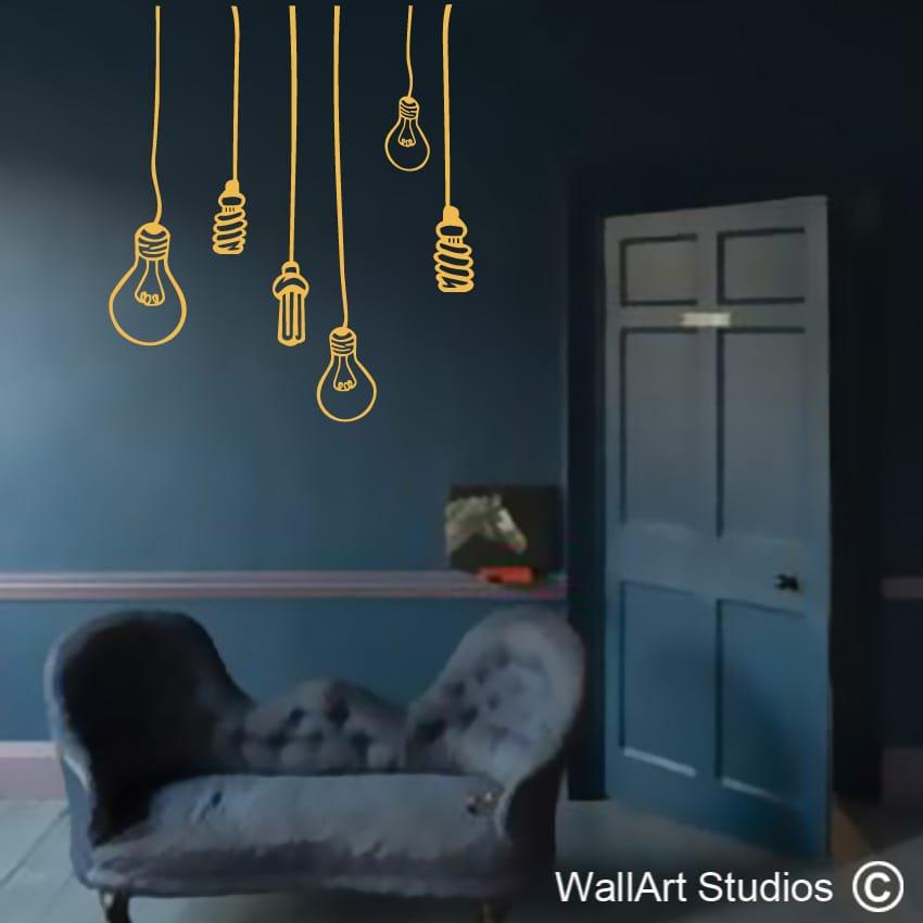 light bulbs wall decal | stickers for walls | wall art studios sa