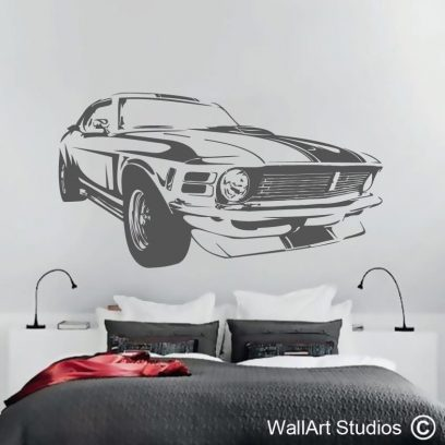 Chevelle Wall Art, muscle cars, vintage, wall stickers