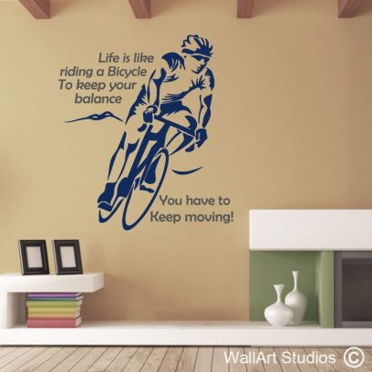 Cycling Wall Art Decal, stickers