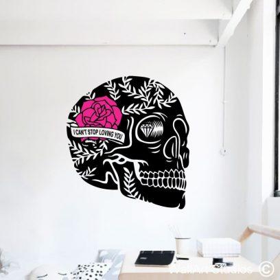 Sugar Skull Love Wall Art