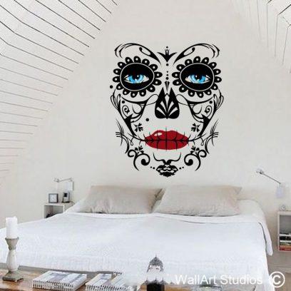 Sugar Skull Wall Tattoo