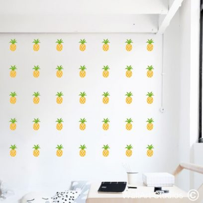 Pineapples Wall Art Stickers