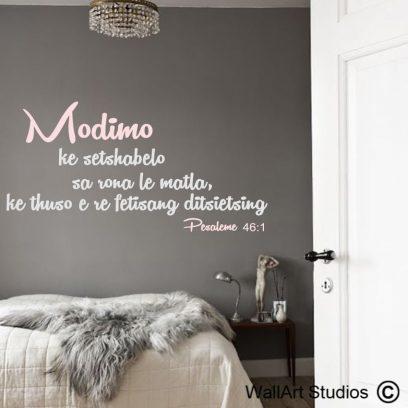 Pesaleme 46-1, sotho, wall art, stickers,modimo