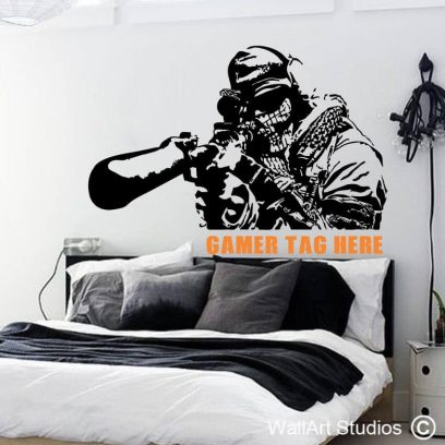 Call of Duty Gamer Tag Wall Sticker, call of duty gamer tag, gamer wall decals, call of duty, black ops, plaCall of duty gamer tag, ystation, xbox, sniper, video games, pc games, stickers, wall tattoos, custom, gamer tag, warcraft, skyrim