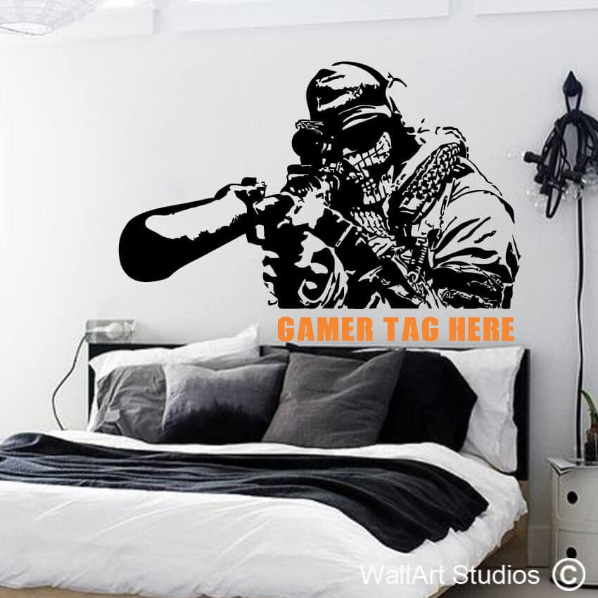 gamer wall decals | gamer wall art | wallart studios