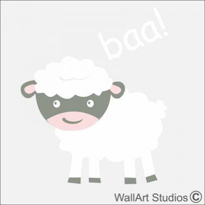 Sheep Farm Yard Wall Sticker, horse, cow, barn, tractor, apple tree