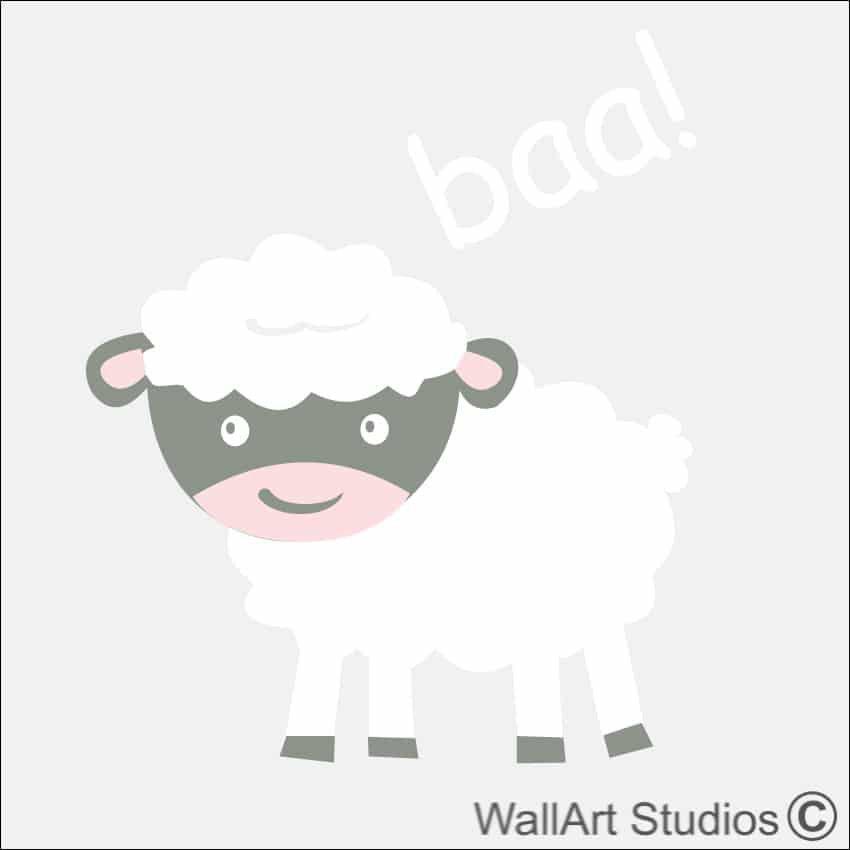 sheep farm yard wall sticker | wall art studios