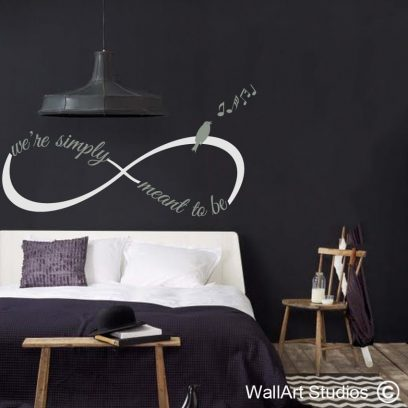 Infinity We're Simply Meant to Be wall decal, love, wall art, sticker, valentines day, romance, wall quotes
