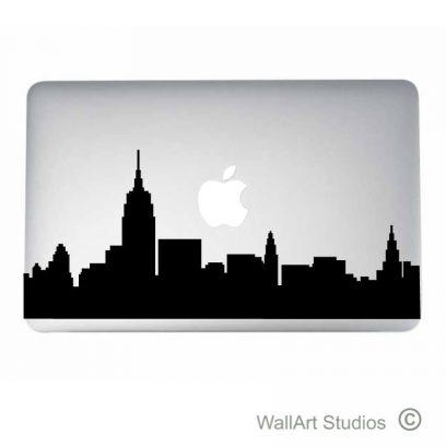 New York Skyline Laptop Decal, stickers, macbook, apple