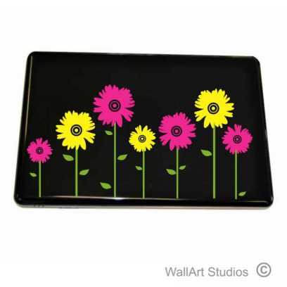 Daisy's Laptop Sticker, flowers, decal, tattoo, apple, acer, hp, dell