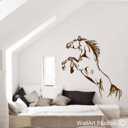 Horse Rearing Wall Art Sticker, decal, equestrian, pets, horses, gallop, canter, home decor