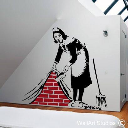 Bansky Maid in London Wall art sticker, anonymous, graffiti, stickers, art, graphics