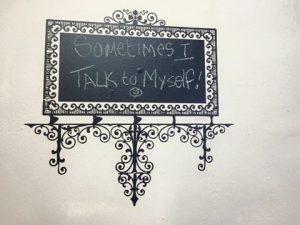 Vinyl frame chalkboard