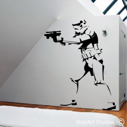 Stormtrooper Wall art decal, star wars, wall sticker, custom, movies, wall art