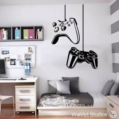 Game Controls Playstation Xbox Decal, stickers, gamers, gaming, nintendo,remote, vinyl, removable, wall tattoo, decals, home decor
