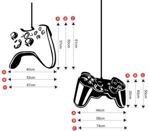 G1 Game controllers playstation xbox decal size