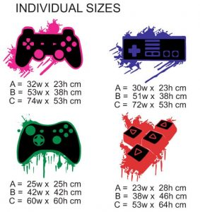 G2 Game Controller splatter SIZES