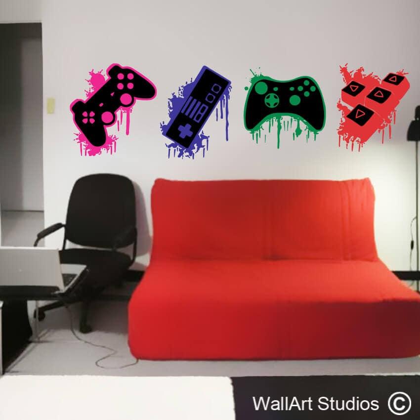 gamer wall decals | gamer wall art | wallart studios