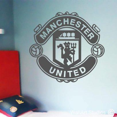 Manchester United FC Wall Tattoo, football wall stickers, custom, england, man u, south africa, wallart studios, boys room decor, sport theme, soccer, messi, ronaldo, rooney