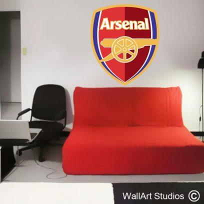 Arsenal Football Club Wall Decal,soccer, logos, wall art, stickers, boys room decor, removable vinyl, wall stickers, custom, graphic design, messi, renaldo, rooney