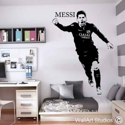 Lionel Messi Football Wall Sticker, decal, tattoo, custom, barcelona, sport, boys room decor, soccer, messi, lionel