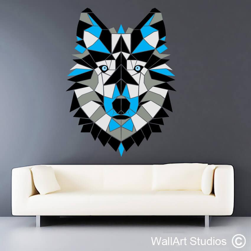 abstract, geometric & polylines| quality wall decals | wall art studios