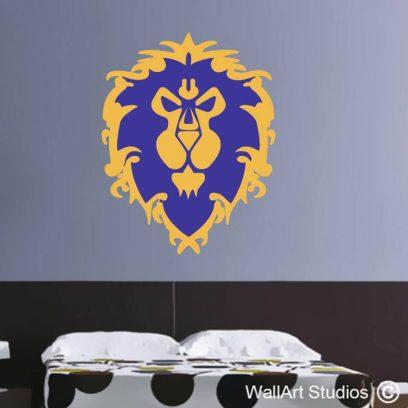 World of Warcraft Alliance Wall Decal, wow, stickers, gaming decor, man cave, custom, wall art, night elf, humans, dwarves, draenei, worgen, pandaren