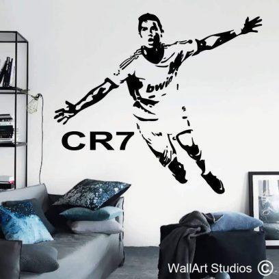 Cristiano Ronaldo Wall Sticker, sports. sport, football, soccer, cr7, boys room decor, ronaldo wall decal, real madrid, wall art, man cave