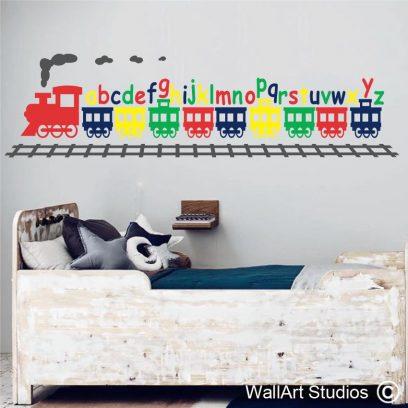 KN40 Alphabet train wall decal