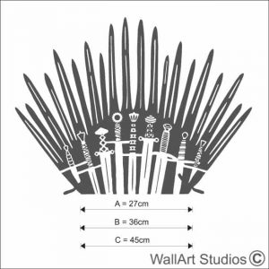 GOT Iron Throne Toilet Decal, game of thrones, bathroom, stickers, wall tattoos, swords, cistern, home decor