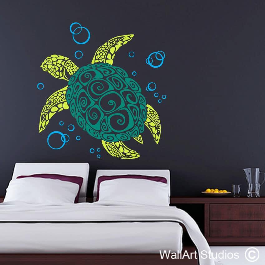Tribal turtle wall tattoo vinyl wall stickers wall art studios sa