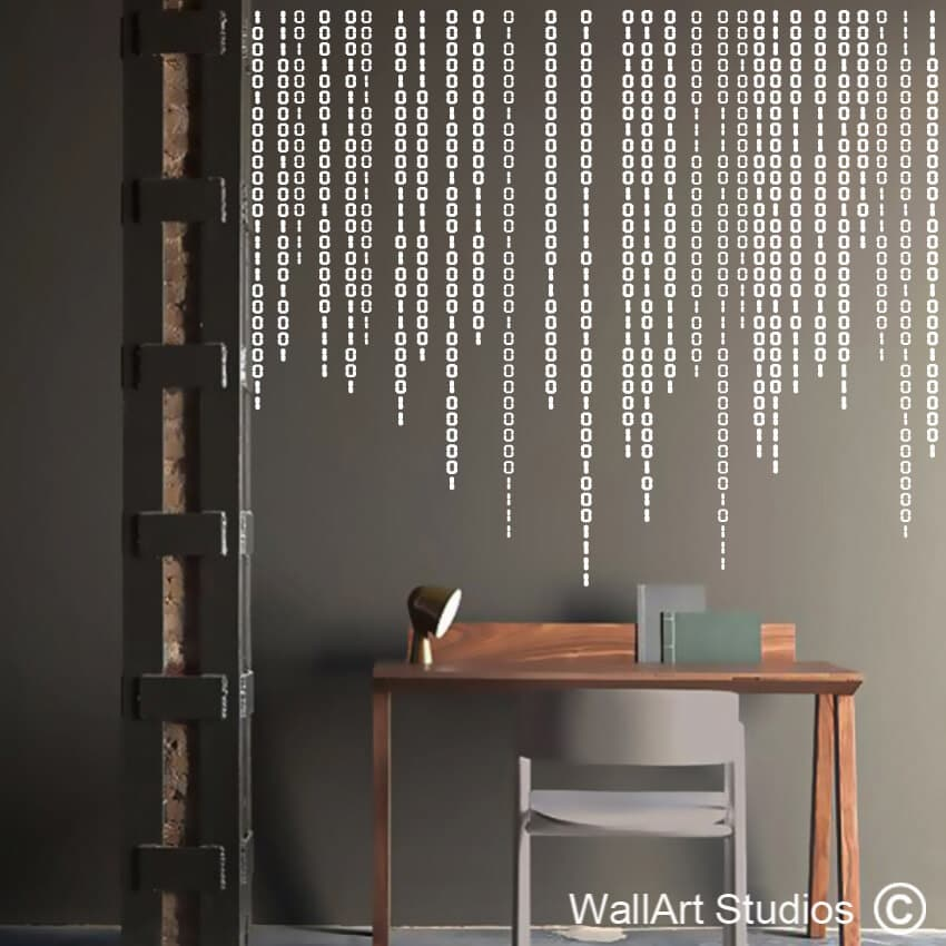 DNA Structure Converted Into Binary Code Multi Panel ... |Binary Wall Art