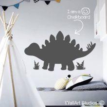 Chalkboard Stegosaurus Dinosaur Wall Sticker, dinosaurs, blackboard, kids room decor, school wall stickers, removable vinyl, chalk, wall art studios
