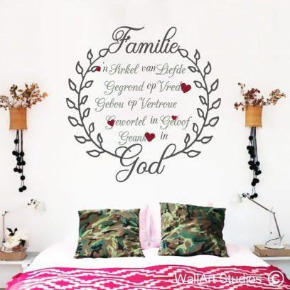 AF23 Familie Geanker God Wall Sticker