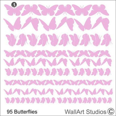 butterflies stickers pack, butterfly stickers, butterfly wall stickers, butterfly wall art, wall stickers for kids, butterfly, girls wall decor, floral, flowers, decorative, diy, pink, purple, white