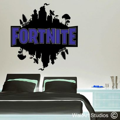Fortnite Wall Decal, gamer wall stickers, pc games, video games, custom gamer decals, fortnite