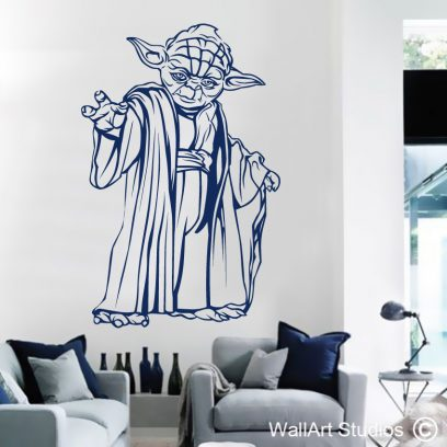 Yoda Star Wars Wall Decal, yoda, star wars, jedi, wall art stickers, wall decals, home decor, teen room decor, wall art studios, custom wall decals, wall tattoos