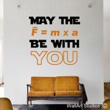 Star Wars Force Science Wall sticker, educational wall stickers, educational wall decals, star wars, force, f=mxa, wall tattoos