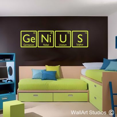 Genius Science Wall Stickers, educational wall decals, educational wall stickers, wall tattoos, wall art studios, custom wall decals