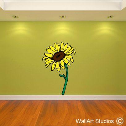 Sunflower, wall art stickers, wall decals, wall art studios