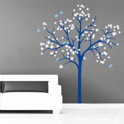 Tree Flying Birds