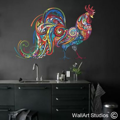 WDCR1 - Rooster Wall Art Decal