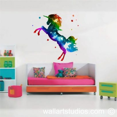 WDU1 Magical Unicorn Wall Decal