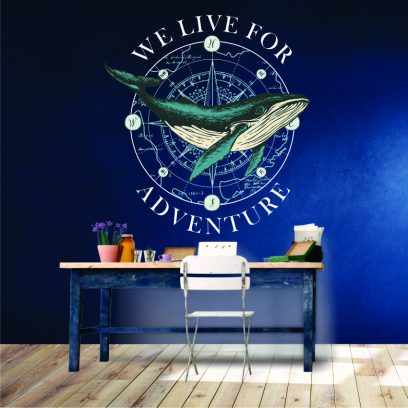 We live for adventure wall sticker
