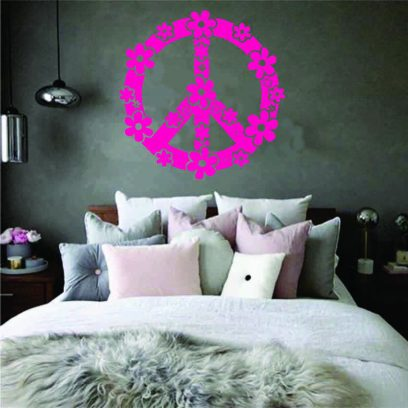 KT040 flower peace sign