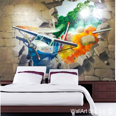WMA - Aeroplane smashing through wall